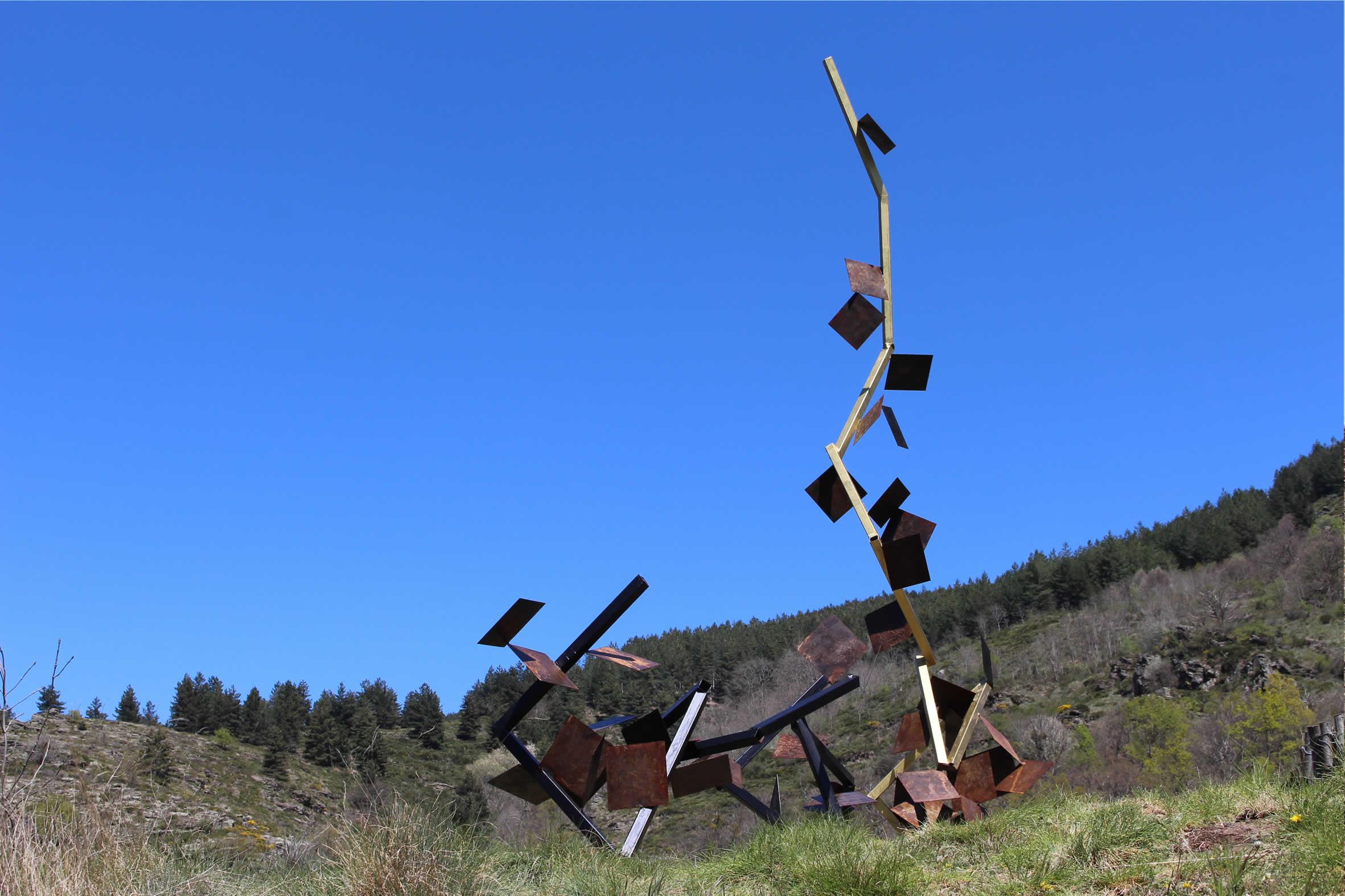 Sébastien Zanello - Chemin de Sculptures - Altier