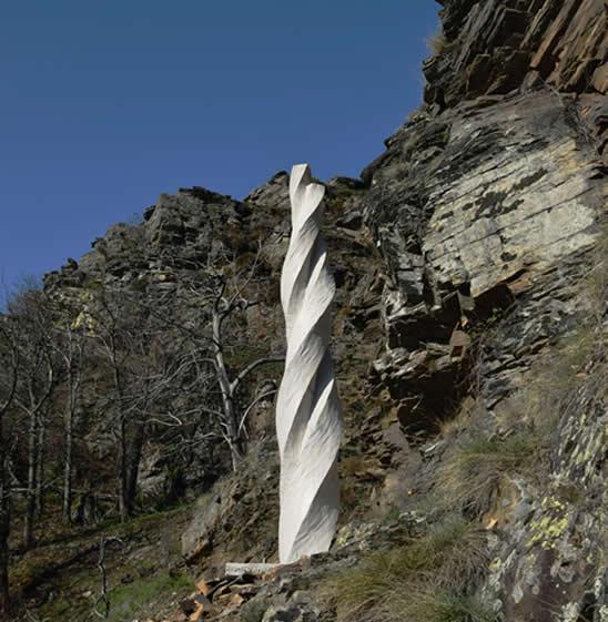 Bruno Bienfait - Sculpture Torsion - Chemin de Sculptures